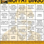 Doctor Who/Steven Moffat Bingo Card 2