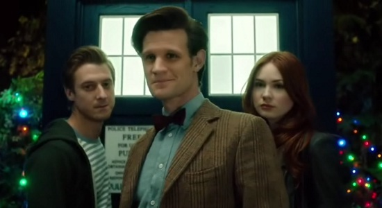 The Doctor, Rory and Amy together