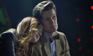 The Doctor and Amy share a quiet moment