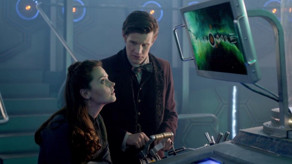 The Doctor and Clara in the TARDIS