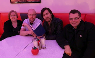 Your Impossible Podcasts team in Eddie's Diner